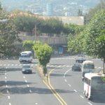 En la intersección de la Juan Pablo II y la 33 avenida Sur