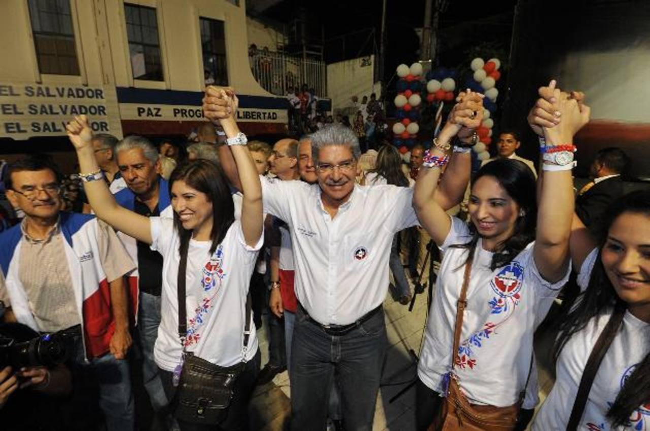 La candidatura presidencial de Norman Quijano fue anunciada por el Coena el 23 de agosto de 2012 en la sede del partido. Fue ratificado oficialmente el 30 de septiembre durante la 31 Asamblea General del partido tricolor. Foto EDH / archivo