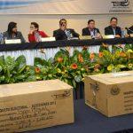 Magistrados del TSE durante el escrutinio final de los resultados de las votaciones del 11 de marzo de 2012.