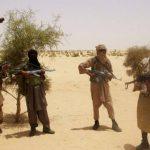 Terroristas del grupo islámico Ansar al Din, afín a Al Qaeda, que lanzan una ofensiva en el norte de Mali. Foto EDH /
