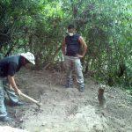 Zona en donde fue recuperado el cuerpo de una mujer, en Panchimalco. FOTO EDH/Lissette Lemus