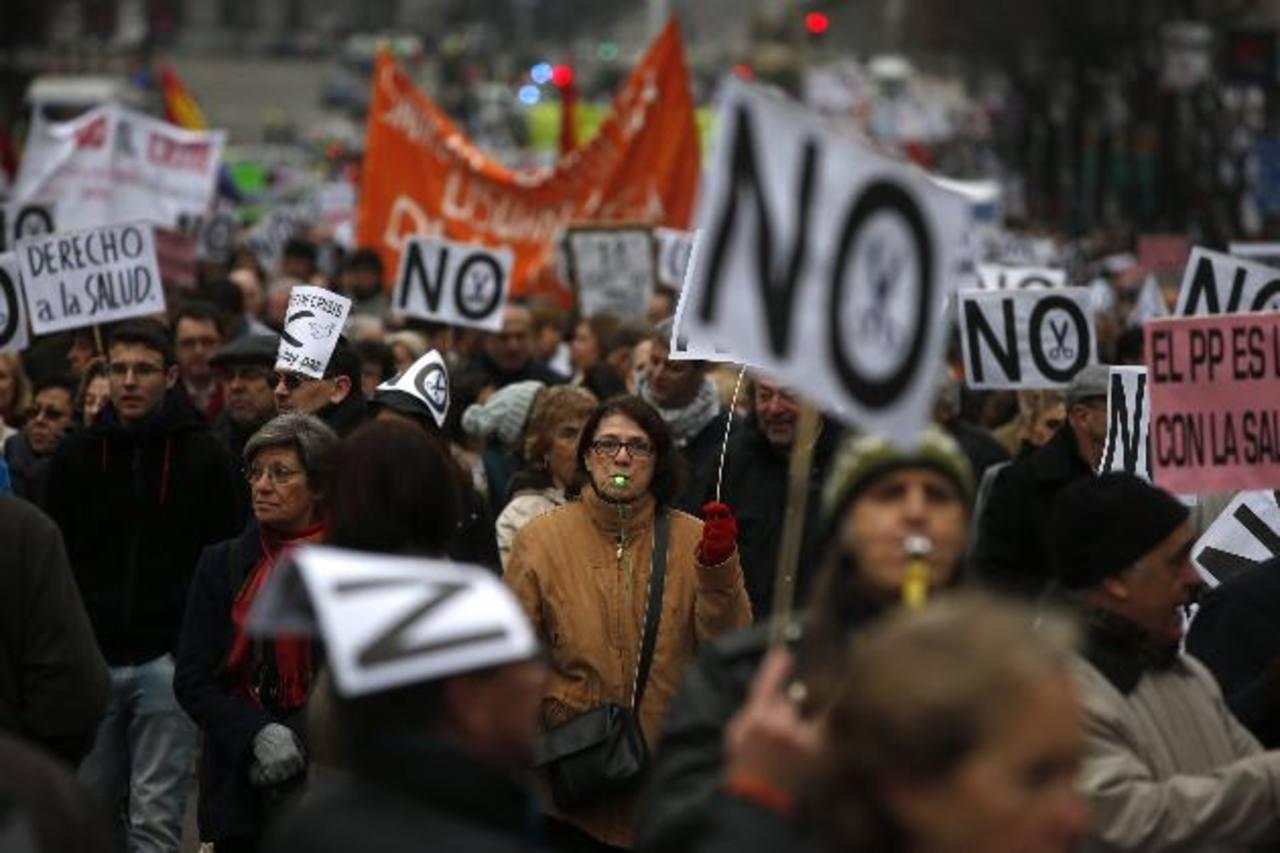 Los manifestantes se concentraron en Madrid. Foto edh