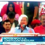 Cerén durante su intervención en Venezuela. FOTO EDH