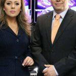 Marisol Doratt y Eduardo Arévalo, conductores de la emisión estelar de Teledos. foto cortesía/ Informativo Teledos