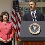 Solís junto a Obama en la Casa Blanca. FOTO AP