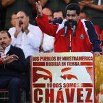 El vicepresidente de Venezuela, Nicolás Maduro, encabezó ayer en Caracas la toma de posesión virtual de Hugo Chávez, junto a algunos gobernantes izquierdistas. Foto EDH / reuters