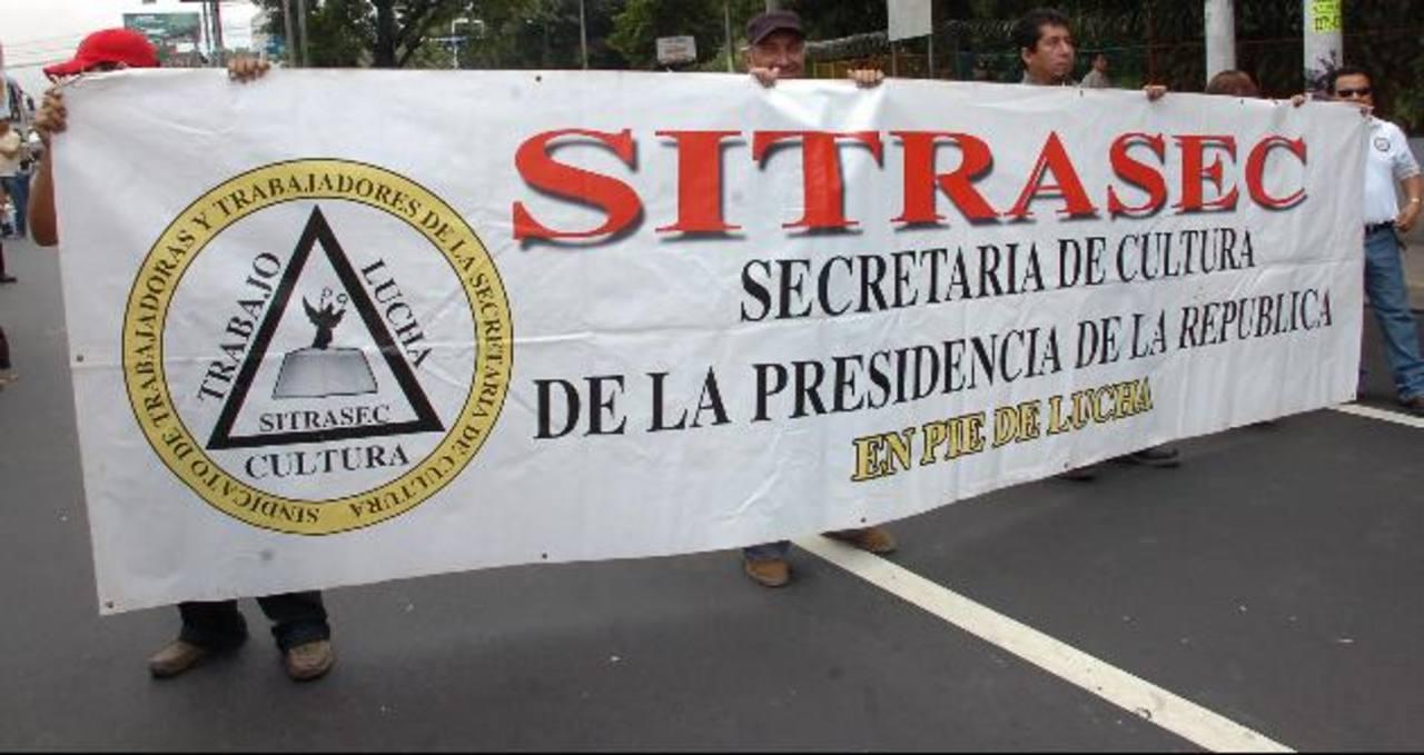 """Para los miembros de Sitrasec, los despidos de Secultura no tienen """"robustez legal ni moral"""" para realizarlos. Ellos mantendrán protestas. foto EDH / archivo"""