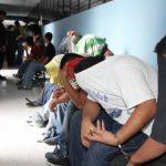Los motoristas y cobradores fueron procesados en dos juzgados de Paz, de San Salvador y Aguilares por desórdenes públicos y resistencia al arresto. Foto EDH / Cortesía