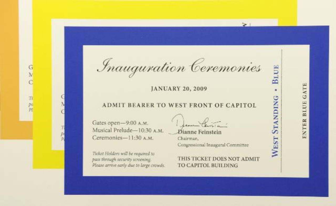 Los boletos para la ceremonia del 21 de enero de 2013 supuestamente son gratuitos, pero están sido ofrecidos en eBay y Craigslist hasta por 2.000 dólares cada uno. Foto/ AP - Archivo