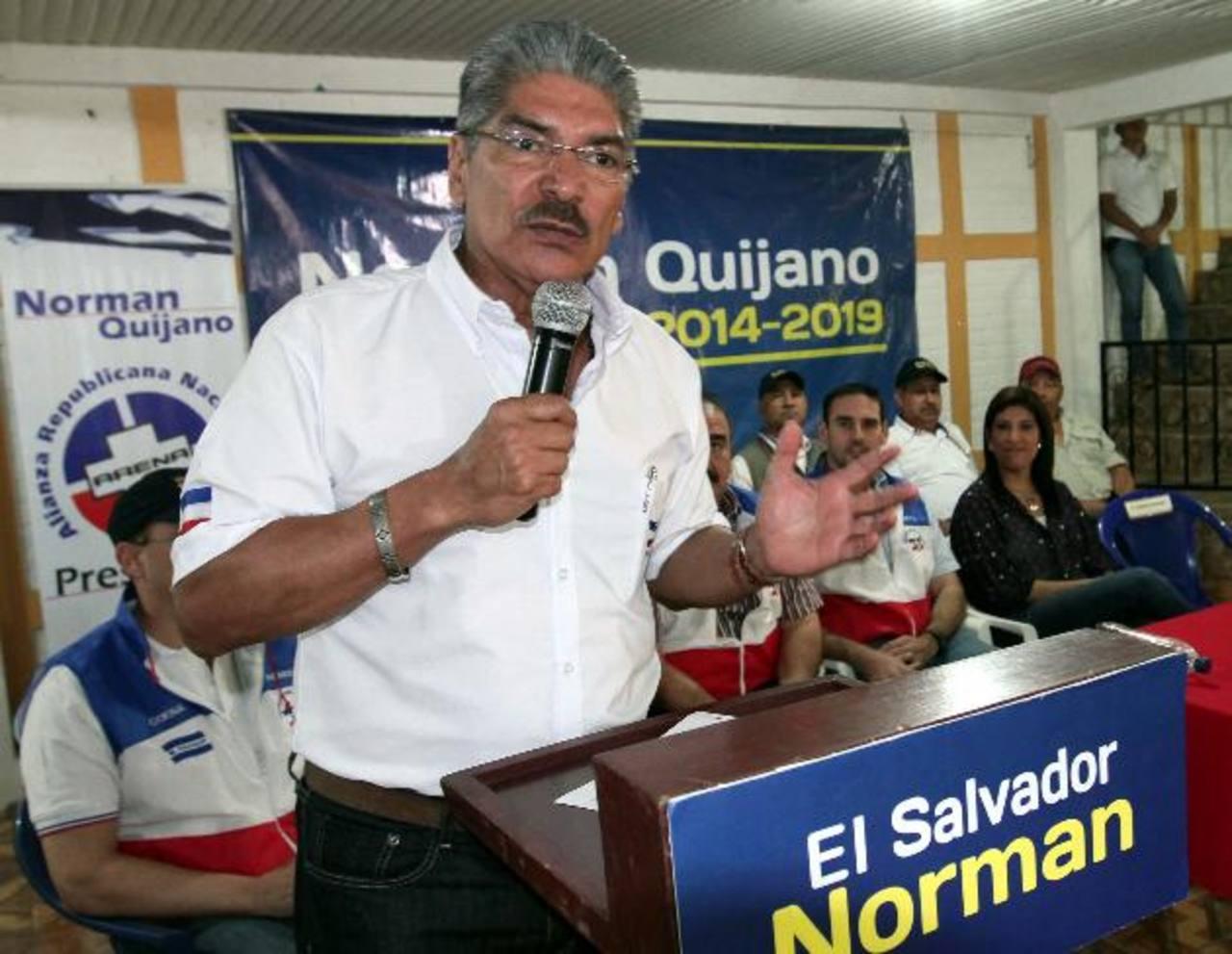 Quijano fue acompañado por miembros del Coena al occidente del país. foto edh / cortesía