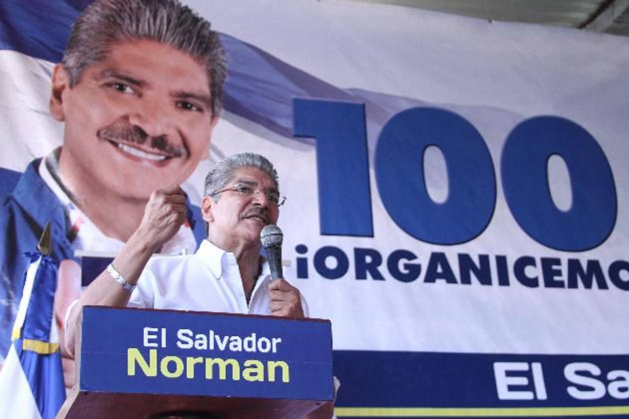 """Norman Quijano dijo que ARENA es garantía de """"estabilidad democrática"""". Foto EDH"""