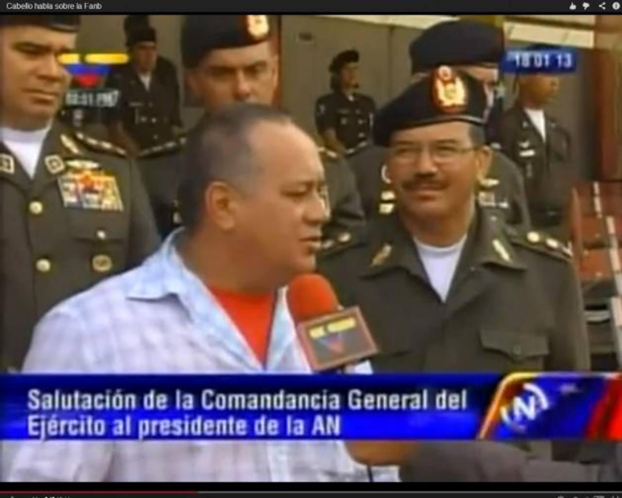 El presidente de la Asamblea Nacional, Diosdado Cabello, sentenció a la oposición ayer.