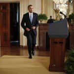 Obama durante su mensaje en la Casa Blanca. FOTO AP