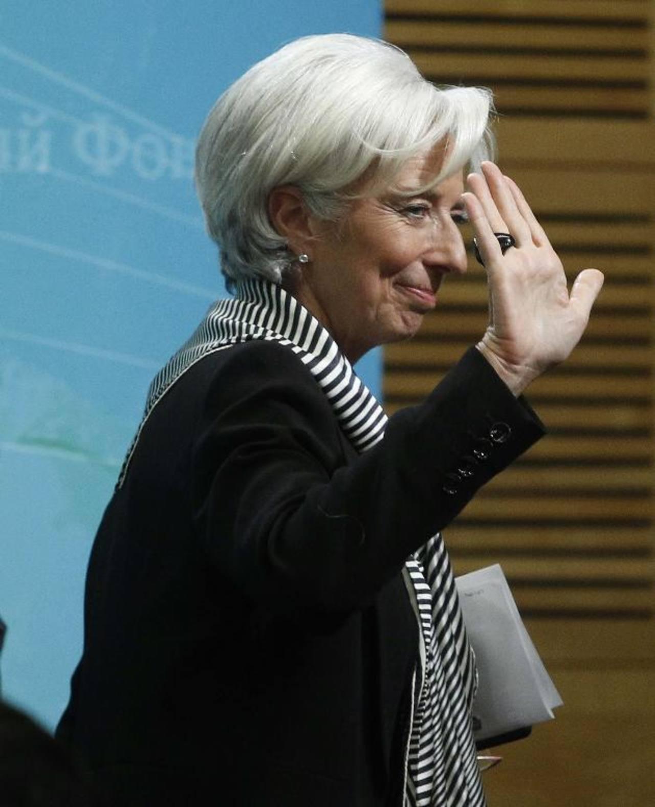 Christine Lagarde es la directora gerente del Fondo Monetario Internacional. Foto EDH / REUTERS