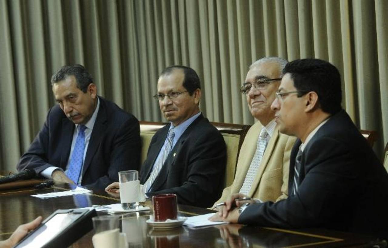 Los magistrados de la Sala de lo Constitucional. FOTO EDH/ARCHIVO