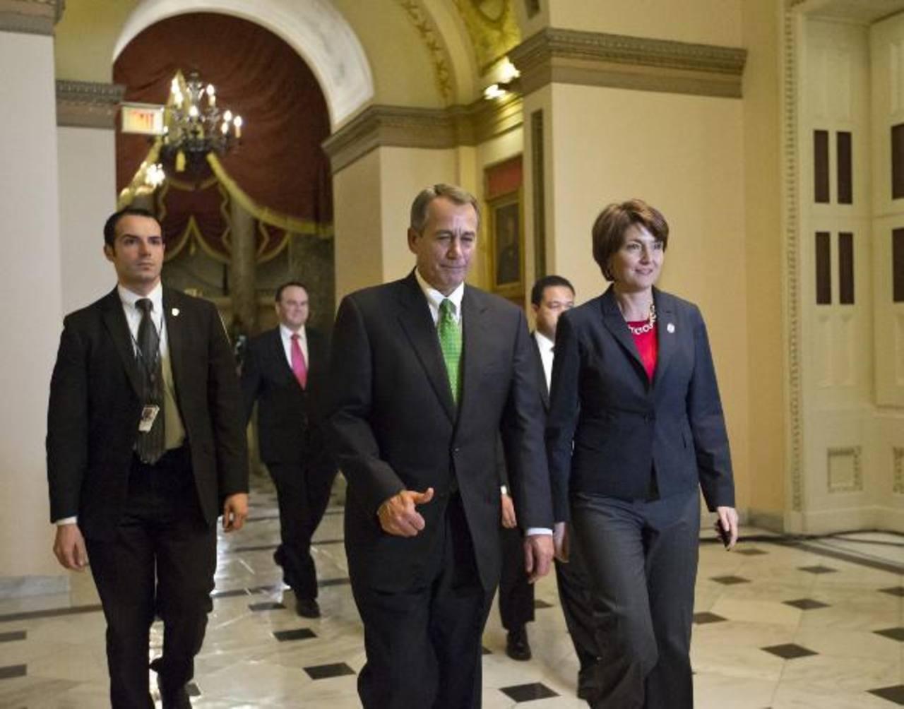 El líder de la Cámara de Representantes, John Boehner, quien es clave en las negociaciones con Obama. foto edh/archivo