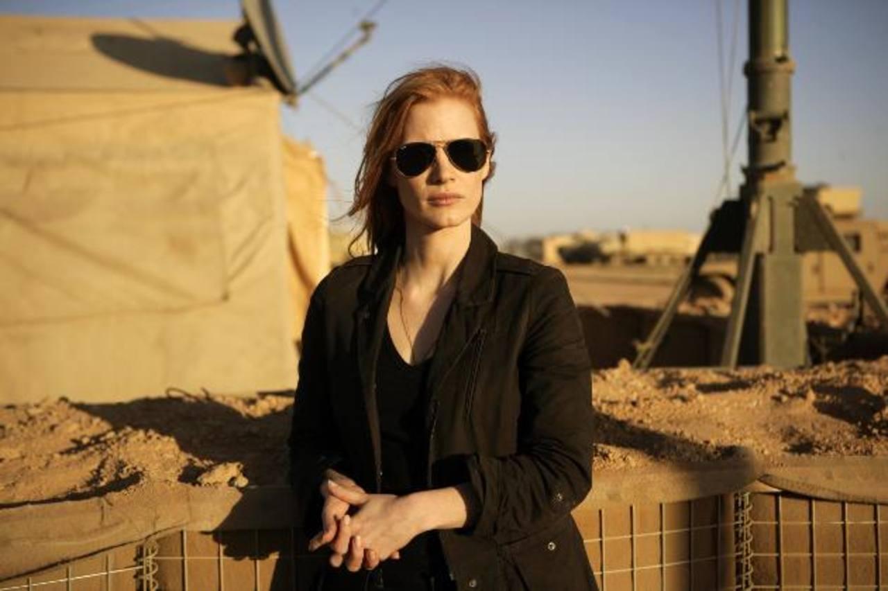 La actriz Jessica Chastain, quien interpreta a una agente de la CIA. Foto/ Archivo