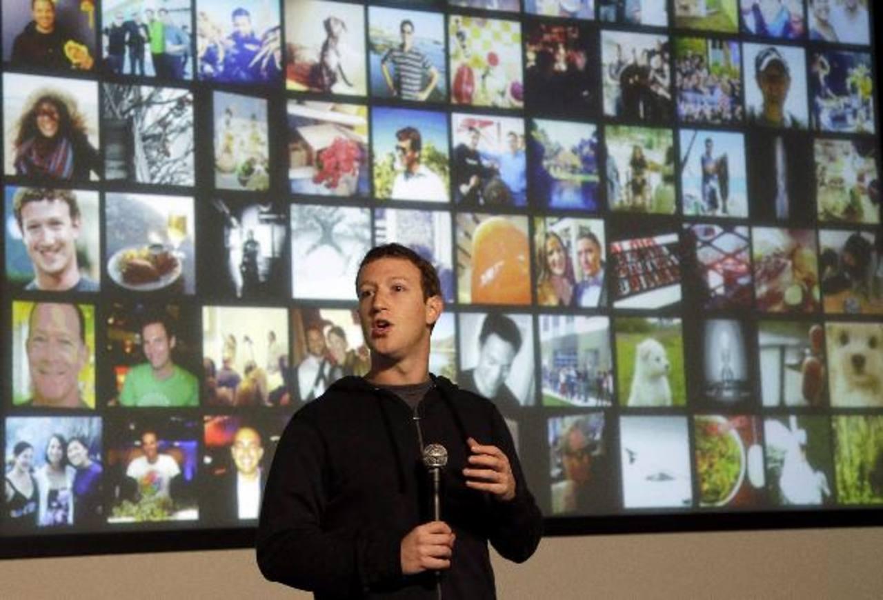 El director general de Facebook, Mark Zuckerberg, presentó una nueva función de búsqueda. Foto/ AP