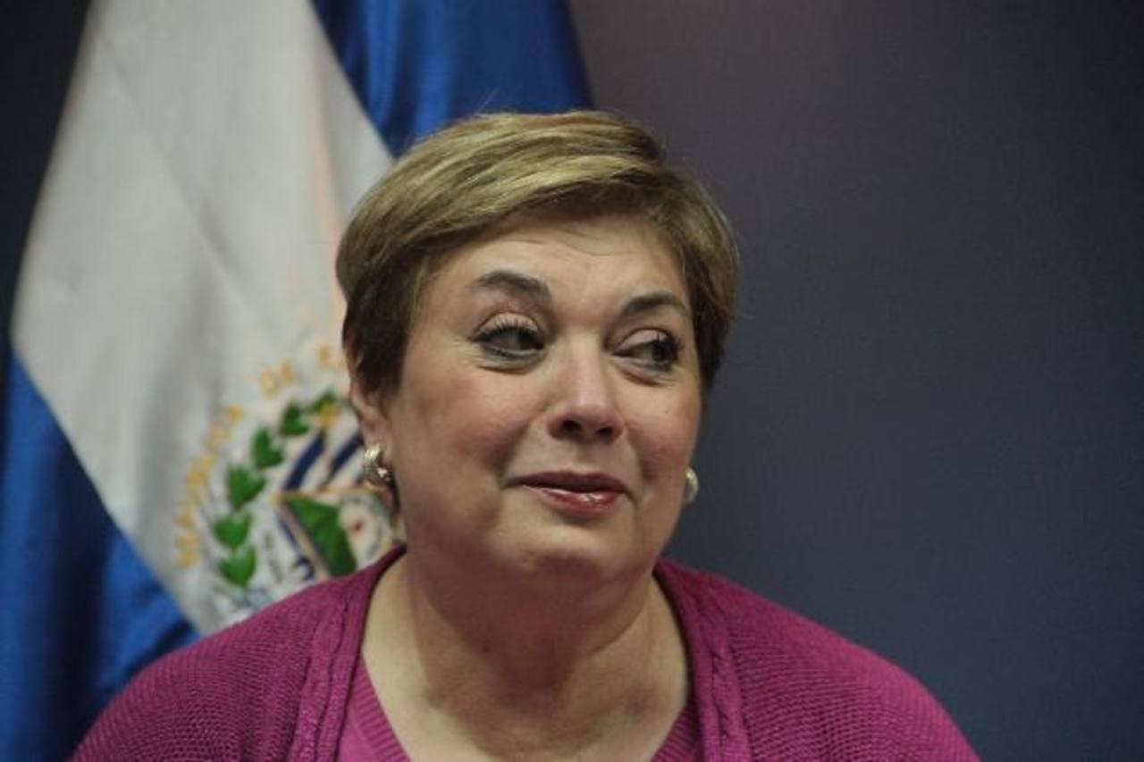 Continuará en su cargo hasta el final del mandato del presidente Funes, aseveró la titular de Secultura. foto edh: Archivo.