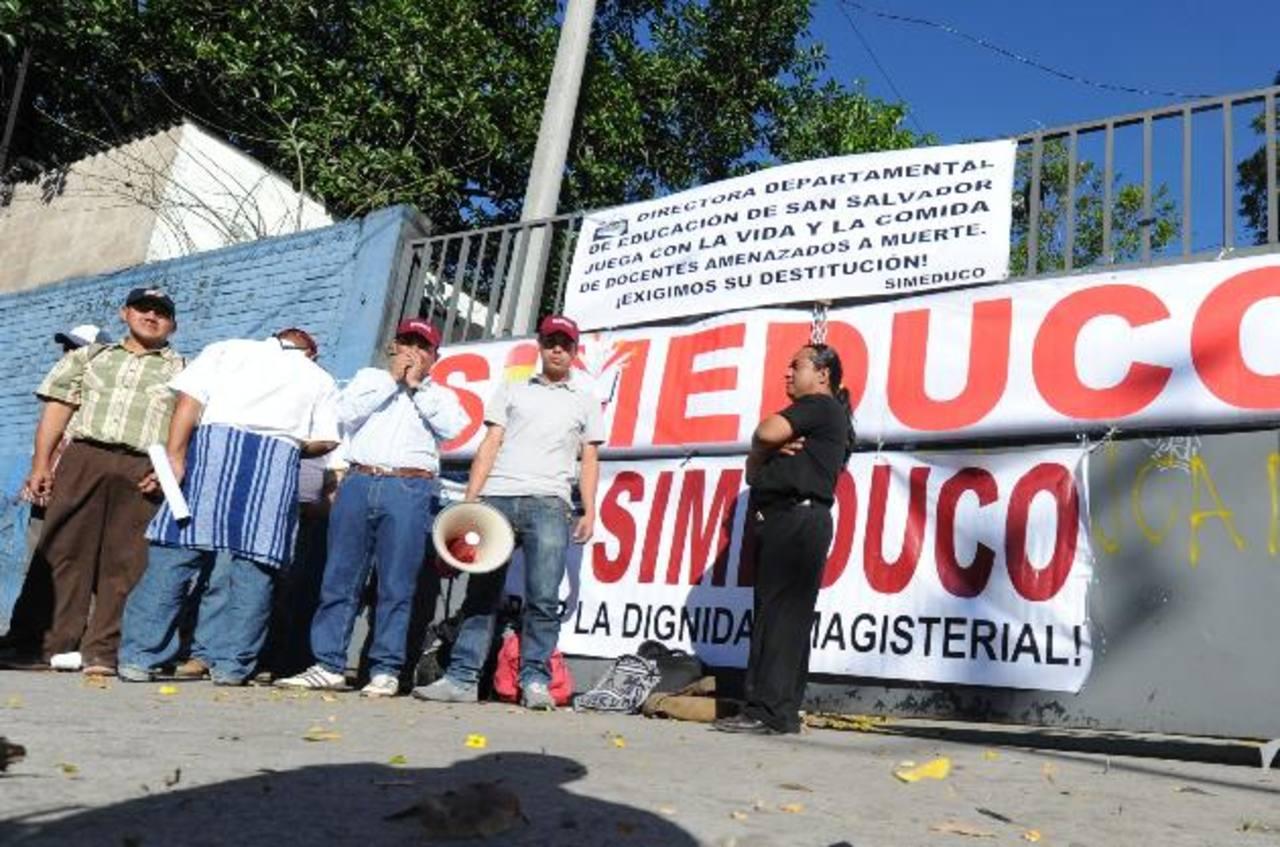 La dirigencia de la gremial docente Simeduco afirma que el derecho a la protesta es constitucional. Foto edh / archivo