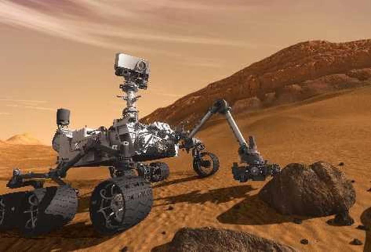 Robot Curiosity perforará la primera roca en Marte