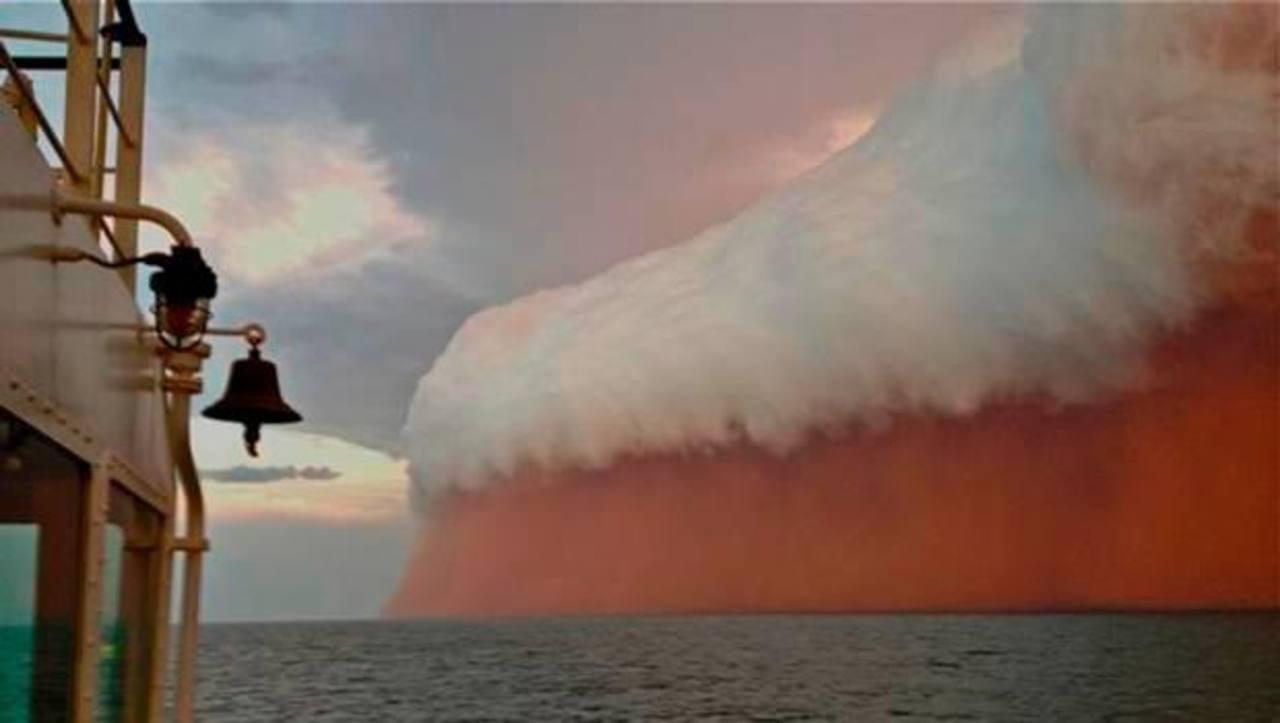Espectacular tormenta de arena sorprende en Australia