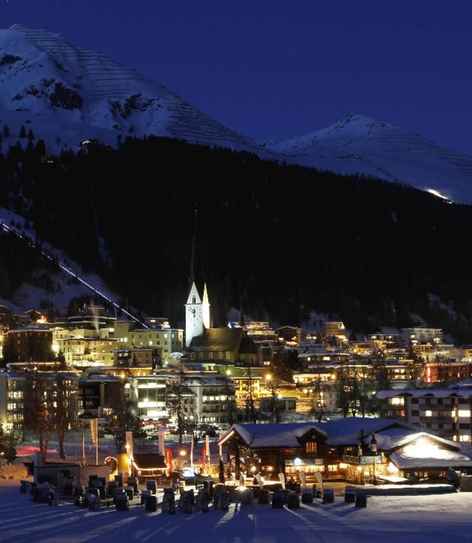 La ciudad de Davos, en los alpes suizos, es la sede de las reuniones anuales del Foro Económico Mundial. Foto EDH/archivo