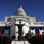La Banda de la Marina de Estados Unidos participará en los actos en el Capitolio. Se han preparado, además, cientos de sillas para los invitados especiales. foto edh / reuters