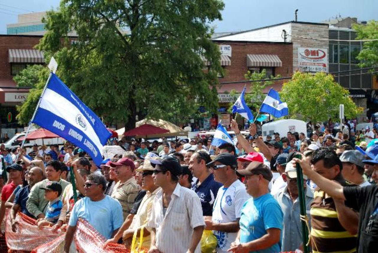 Salvadoreños residentes en Maryland, Estados Unidos. FOTO EDH/ARCHIVO