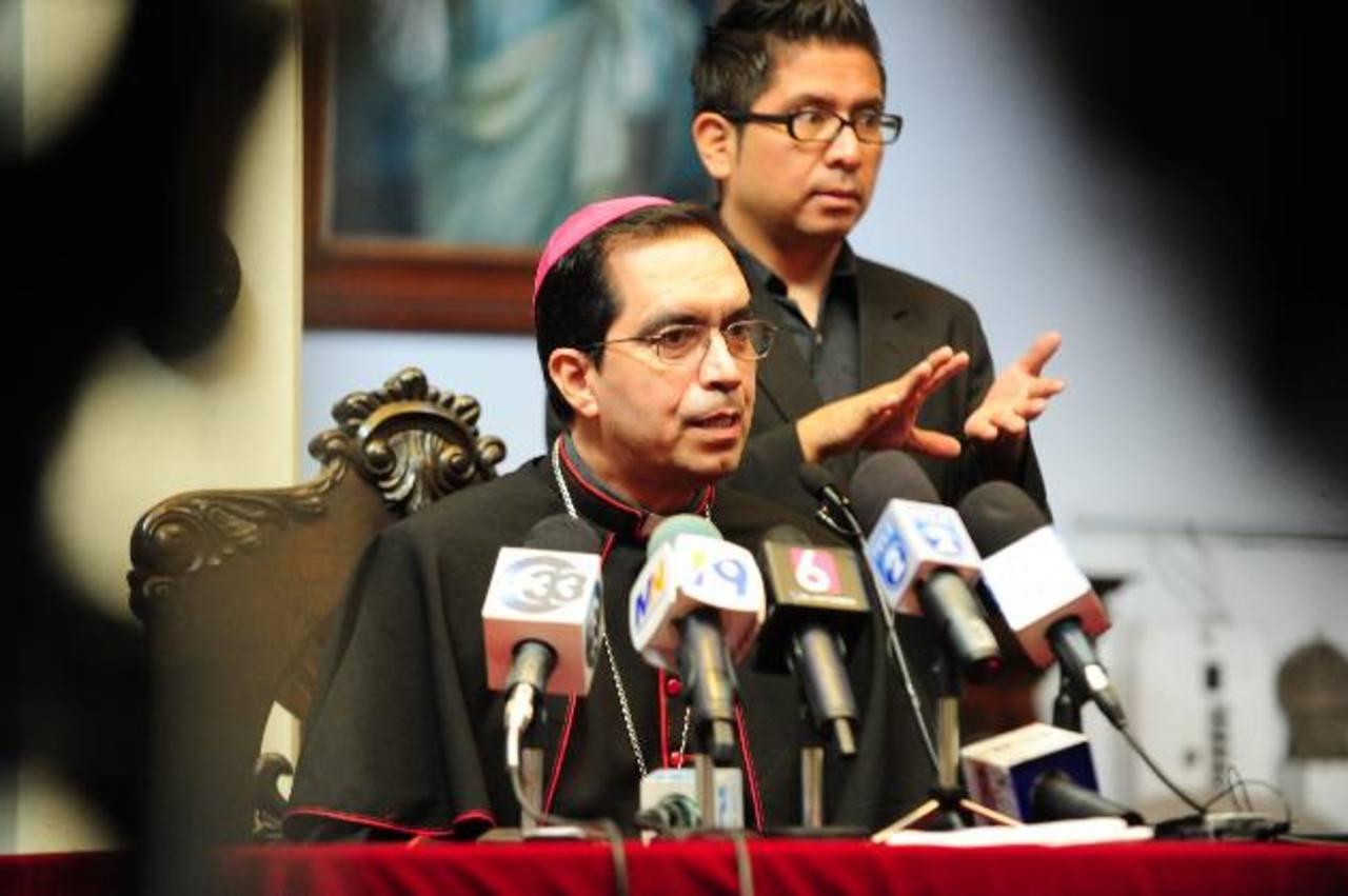 José Luis Escobar Alas brindó las declaraciones ayer durante la conferencia dominical foto edh/ Mauricio Cáceres