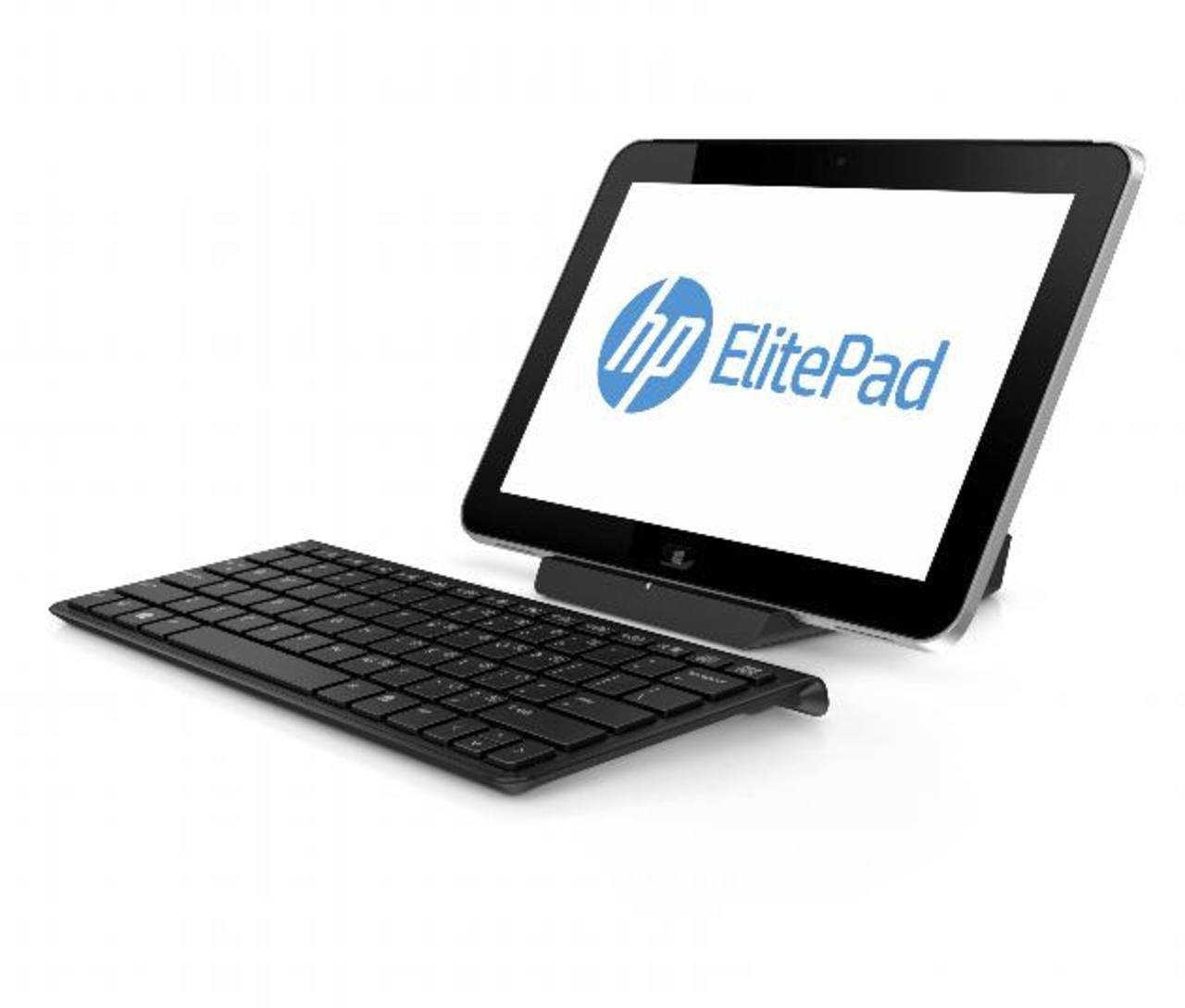 Los accesorios como teclado y base de la ElitePad 900 se compran por separado. Llegará al país en febrero.