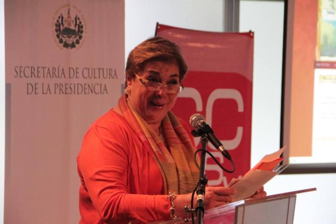 Finalmente la secretaria de Cultura, Ana M. Granadino, acatará el fallo de la Sala de lo Constitucional. Foto EDH / Archivo