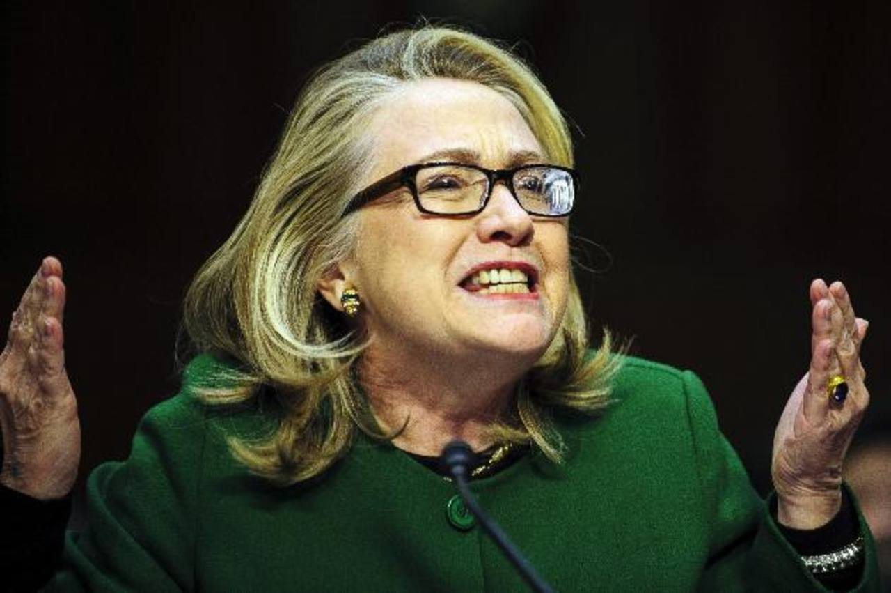 Hillary Clinton testificó ante un comité del Senado sobre el ataque letal en septiembre a la misión diplomática de Washington en la ciudad libia de Bengasi. foto edh / efe