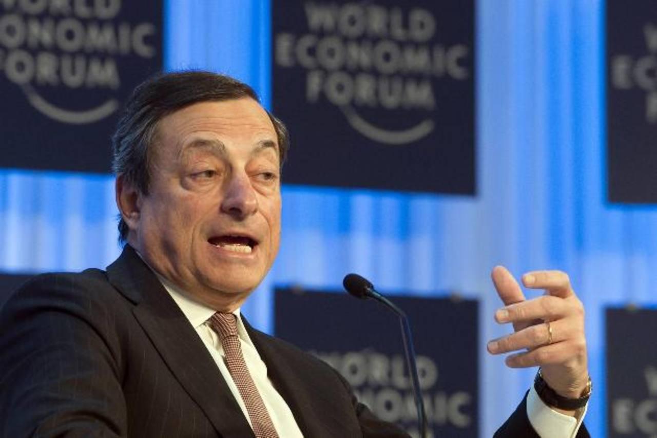 El presidente del BCE, Mario Draghi tuvo participación ayer en la ronda de debates en el Foro Económico Mundial.