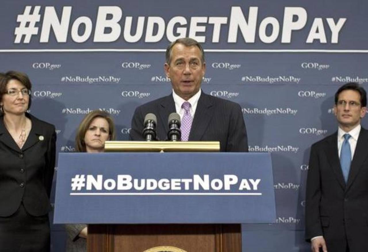 El presidente de la Cámara de Representantes de Estados Unidos, John Boehner, y otros directivos republicanos. Foto/ AP