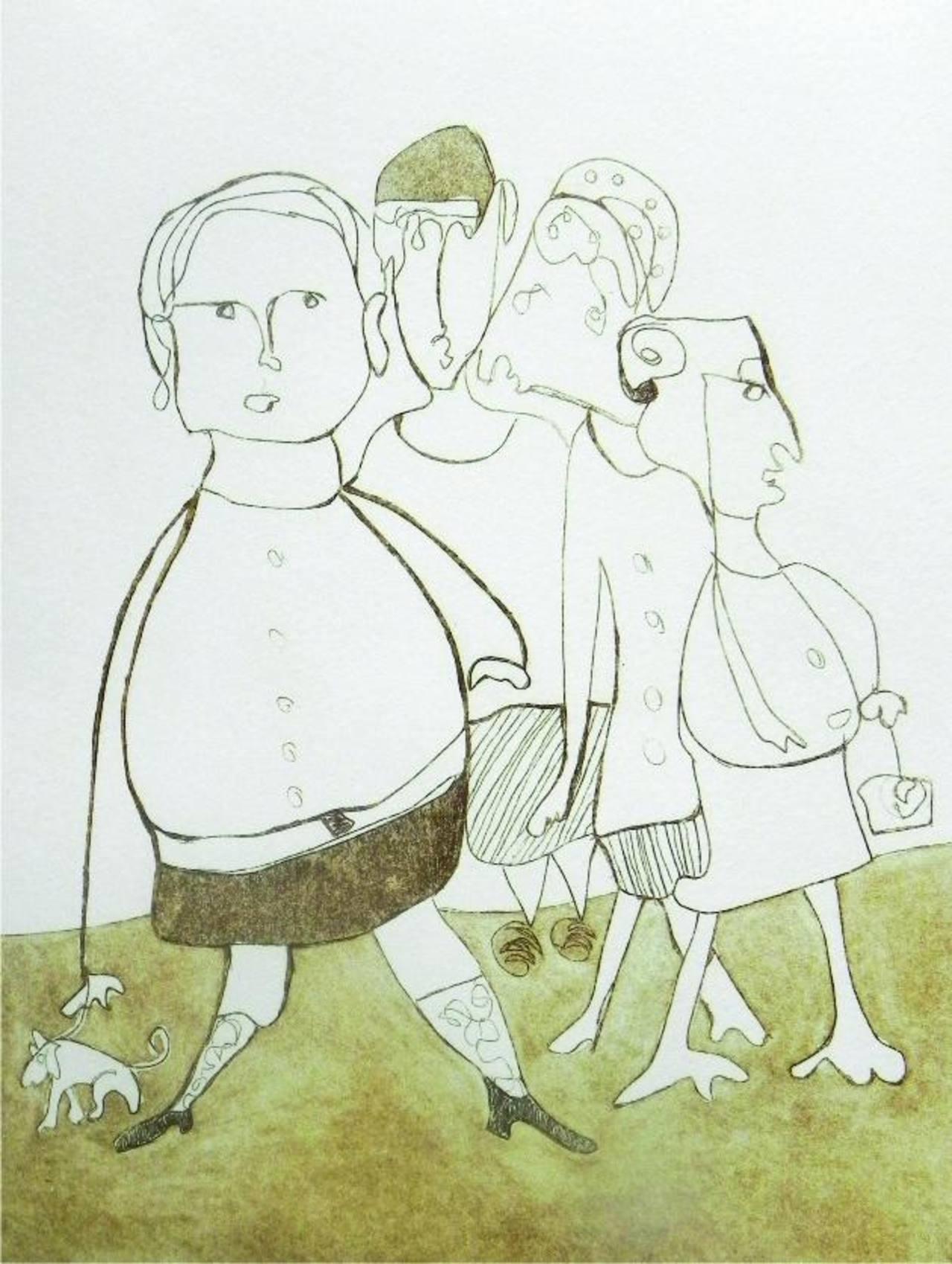 Grabado de Lycri Bicard, participante de la exhibición.