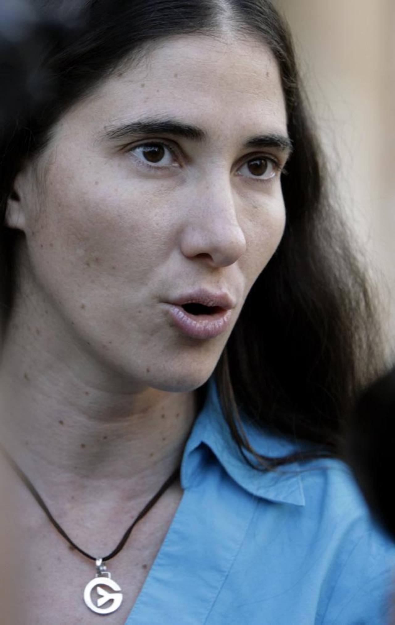 Yoani Sánchez, bloguera opositora creadora del sitio Generación Y.