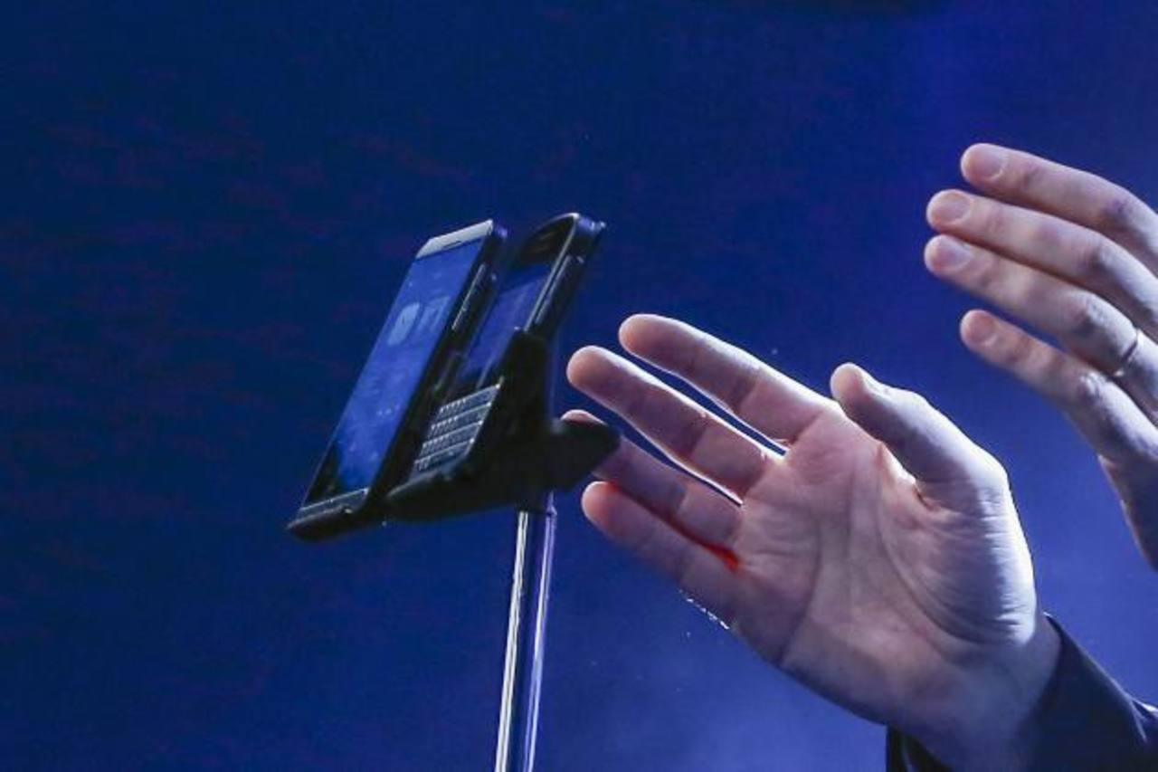 Los nuevos modelos de la compañía BlackBerry fueron presentados hoy.