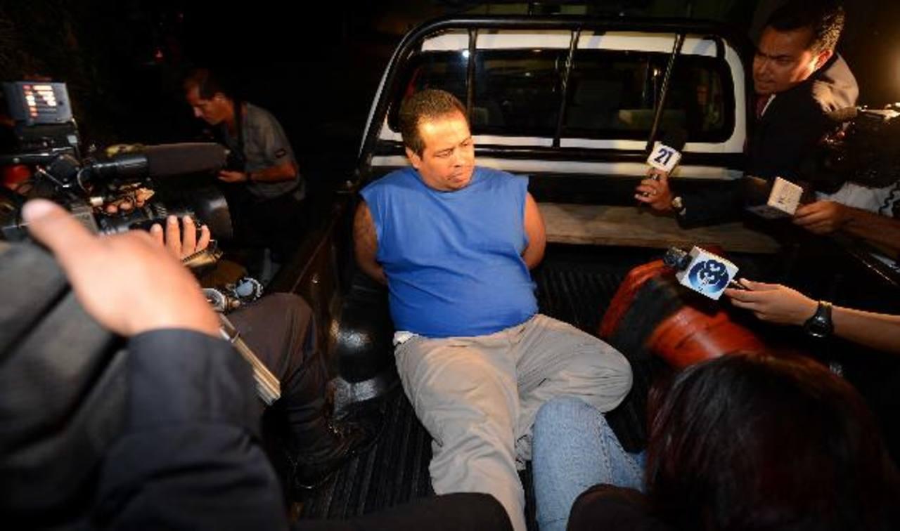 Marco Landaverde fue acusado de amenazar a muerte a un equipo de periodistas la semana pasada. Foto EDH / ARCHIVO.