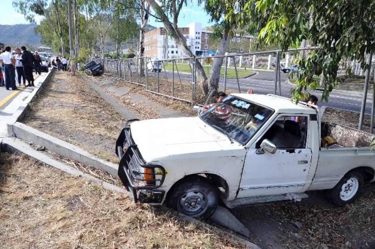La imprudencia al manejar provocó ayer siete heridos en San Marcos. Foto EDH / Oscar Mira