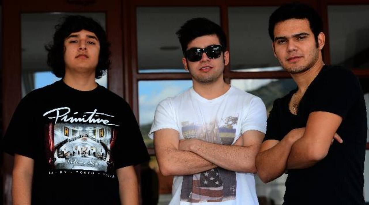 Erick Rincón, Sergio Zavala y Alberto Presenda, son del grupo mexicano. FOTOS EDH / Mario Amaya