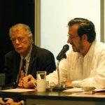 André Guttfreund, presidente de Ascine, y Fernando Fajardo, director del Centro Cultural de España. Foto EDH / cortesía