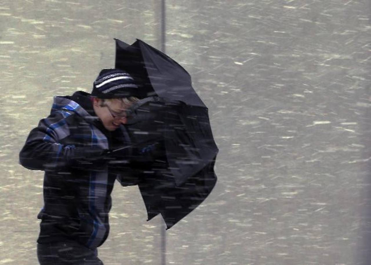 El Servicio Meteorológico Nacional informó que Nueva Inglaterra puede recibir entre 45 y 60 centímetros de nieve. foto edh