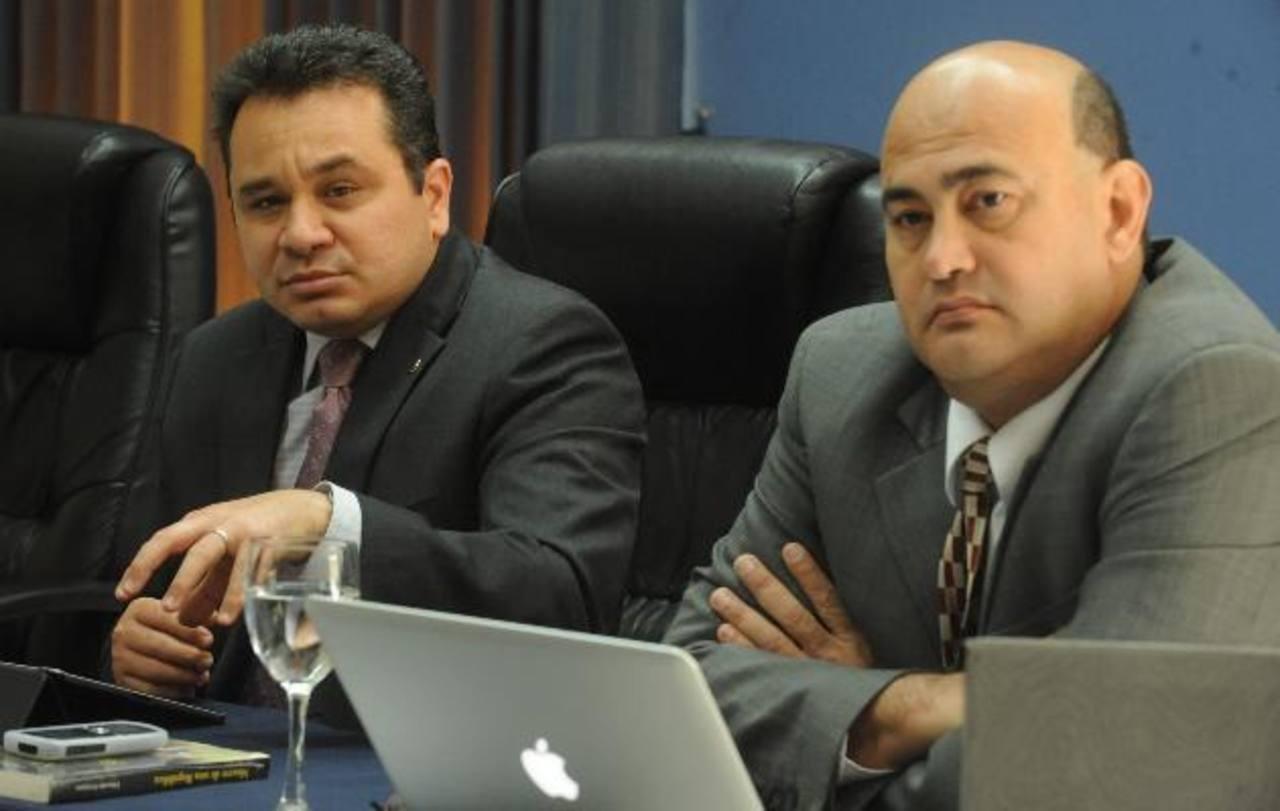 Jorge Daboub y Arnoldo Jiménez representan a la cúpula de la ANEP. EDH/ Lissette Monterrosa