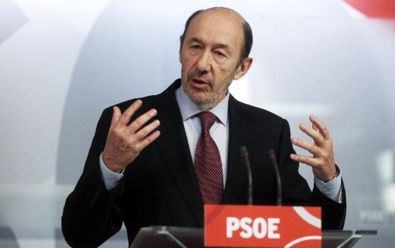 Líder de Partido Socialista, Alfredo Pérez Rubalcaba, pidió la dimisión de Rajoy. foto edh /reuters