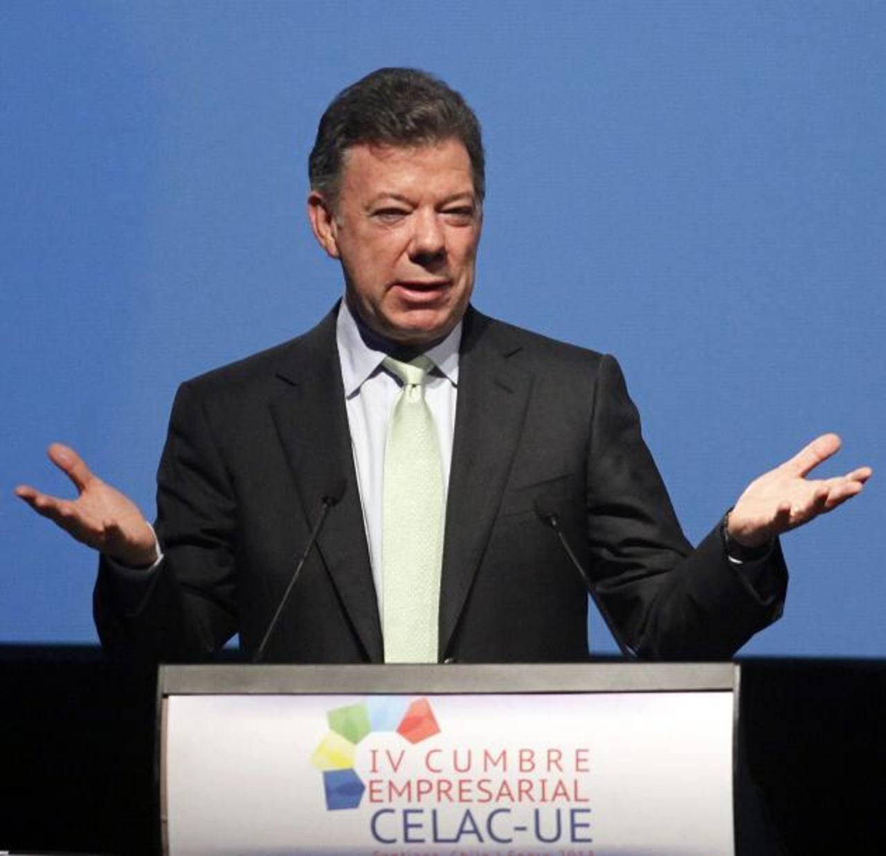 Juan Manuel Santos, presidente de Colombia. foto edh / ARCHIVO