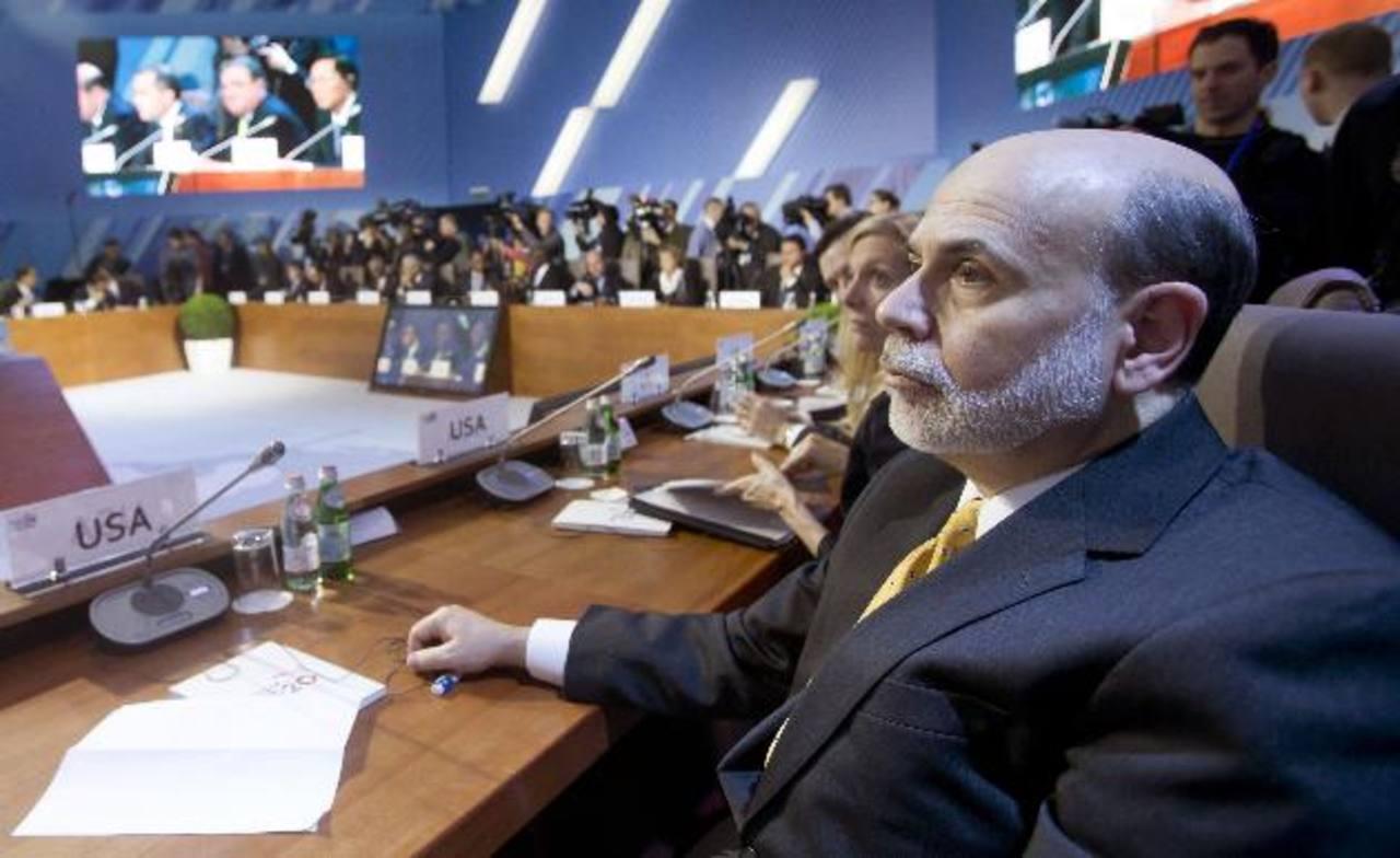 Ben Bernanke, presidente de la Fed de EE. UU., en el más reciente foro del G20, en la capital de Rusia, Moscú. Foto EDH/aP