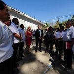 Miembros de Cooperación Alemana, alcaldes y autoridades de Seguridad participaron en el evento. Foto EDH / Mauricio Cáceres