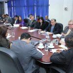 El ministro de Hacienda llegó ayer a la Comisión Financiera de la Asamblea Legislativa. Foto EDH