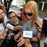 Guevara negó haber recibido 50,000 dólares de su ex esposo para detener el proceso. FOTO EDH